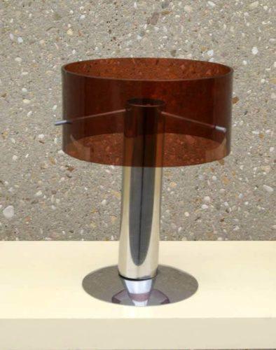 lampe plexiglas chrome le blog des brocanteurs. Black Bedroom Furniture Sets. Home Design Ideas